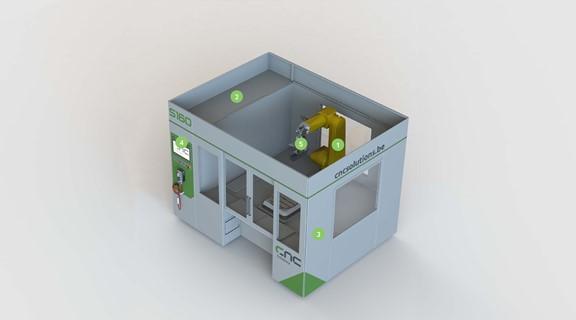 cellule robotisée usinage ponçage
